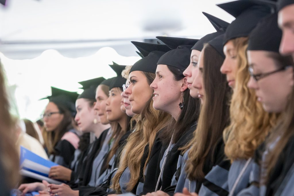 On May 21st, 2017, members of the Cummings School community celebrated the 35th commencement ceremony at Cummings School of Veterinary Medicine in N. Grafton, MA. A total of 138 students received degrees.