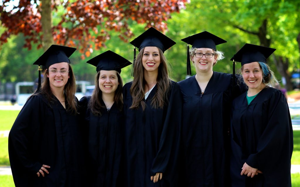 graduates of the class of 2019 at Cummings School commencement