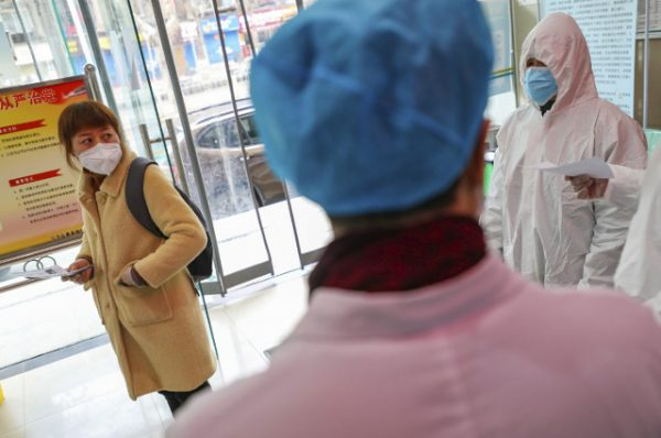 Medical workers in protective gear