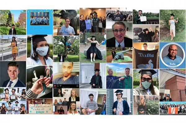 collage of photos from 2020 commencement