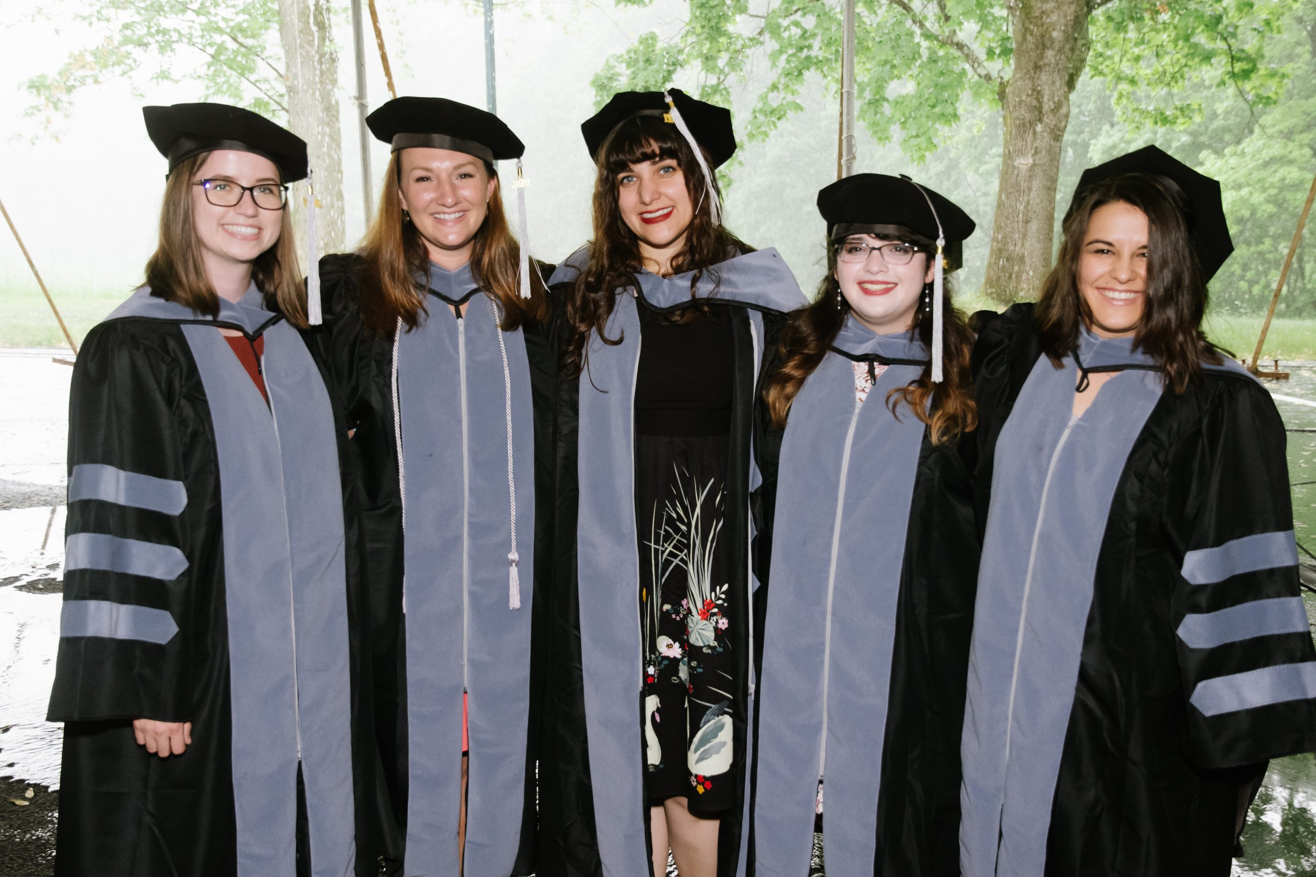 veterinary students in their gaps and gowns on graduation day
