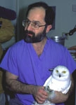 Mark Pokras with Snowy Owl